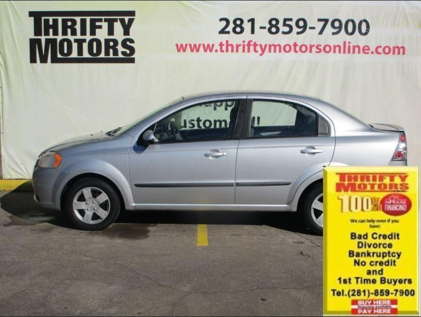 2011 Silver Chevrolet Aveo (KL1TD5DE1BB) with an 1.6L I4 1.6L I4 engine, Manual 5-Speed transmission, located at 4509 Highway 6 North, Houston, TX, 77084, (281) 859-4646, 29.848997, -95.645760 - Photo #0